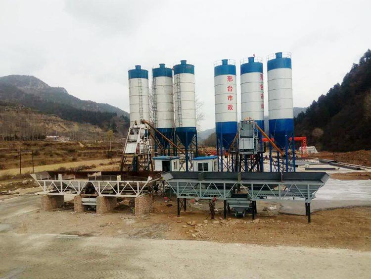 150m3/h Concrete Batching Plant has been established
