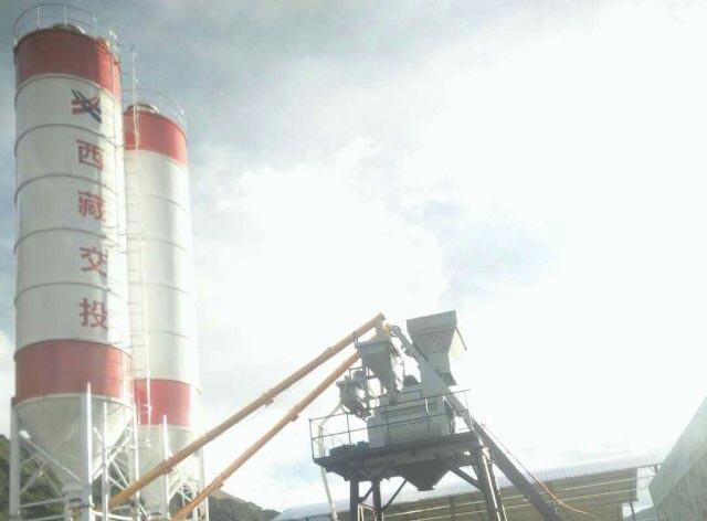 50m3/h Concrete Mixing Plant has been established