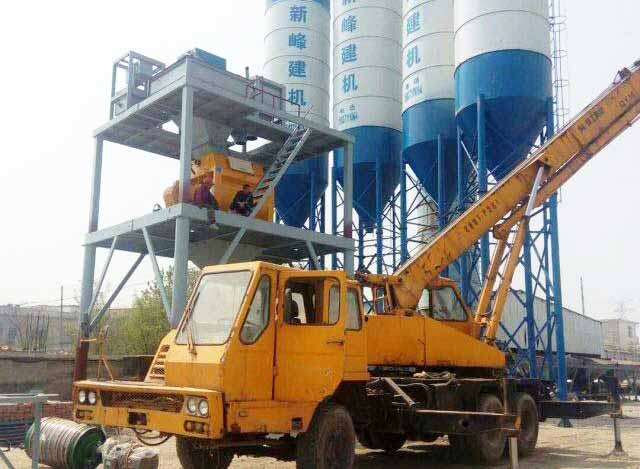 60m3/h Concrete Batching Plant is establishing