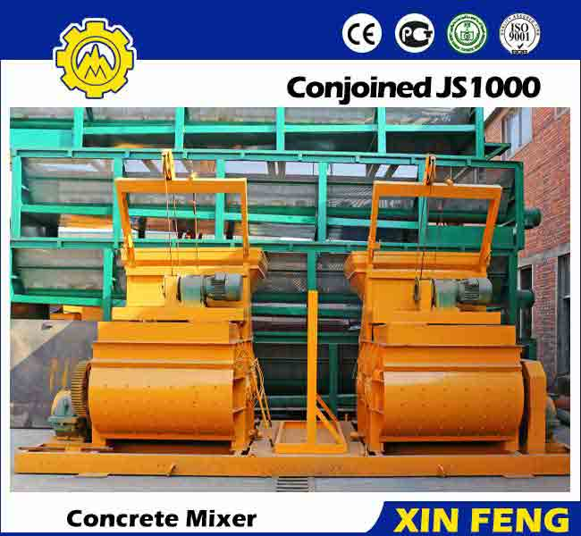Conjoined JS1000 Concrete Cement Mixer