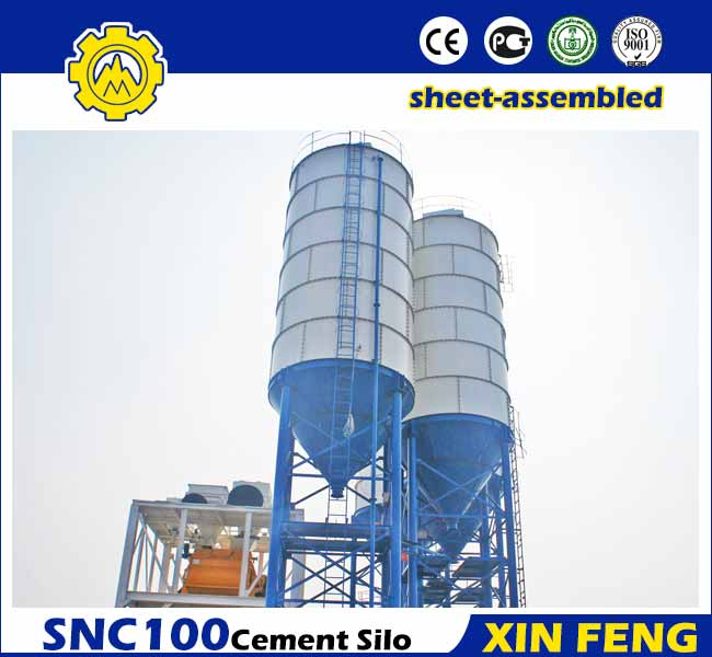 Sheet-assembled 100T Cement Silo