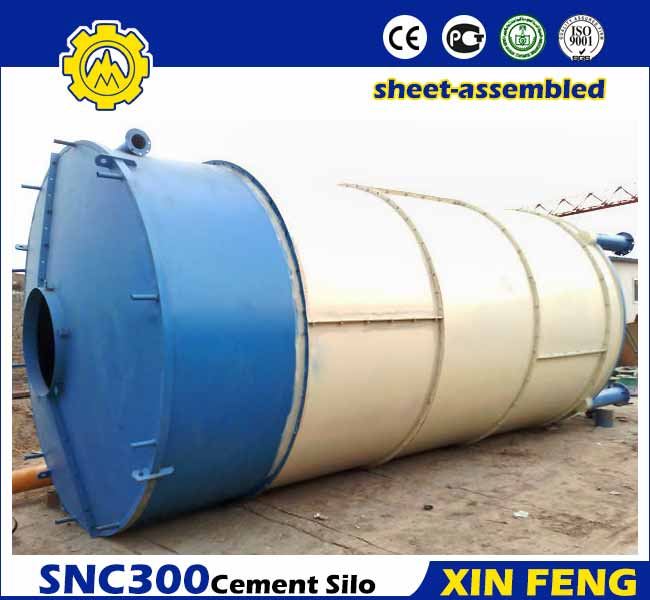 Sheet-assembled 300T Cement Silo
