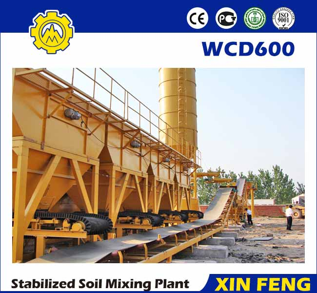 WCD600 stabilized soil batching plant