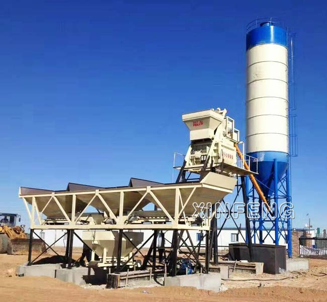 Mini Concrete Batch Plant Cube : Mini concrete batching plant mixing